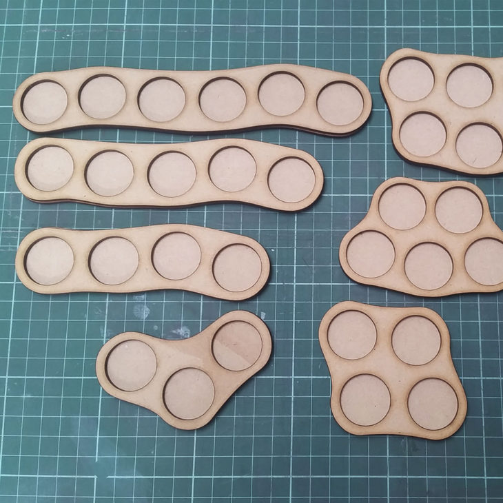skirmish trays for 25mm round bases