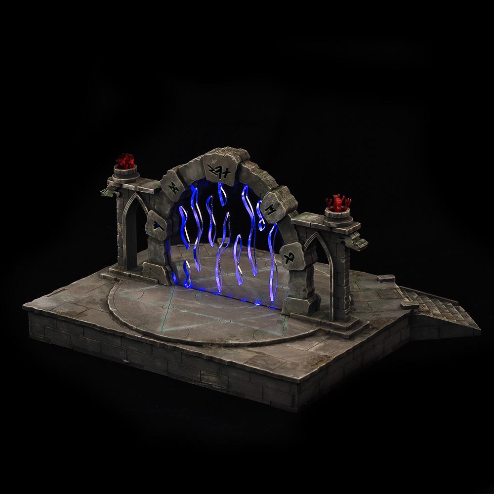 portal terrain model for dungeons and dragons