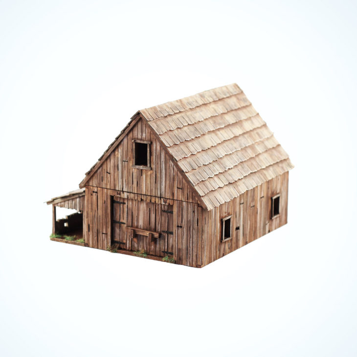 28mm old barn mdf building