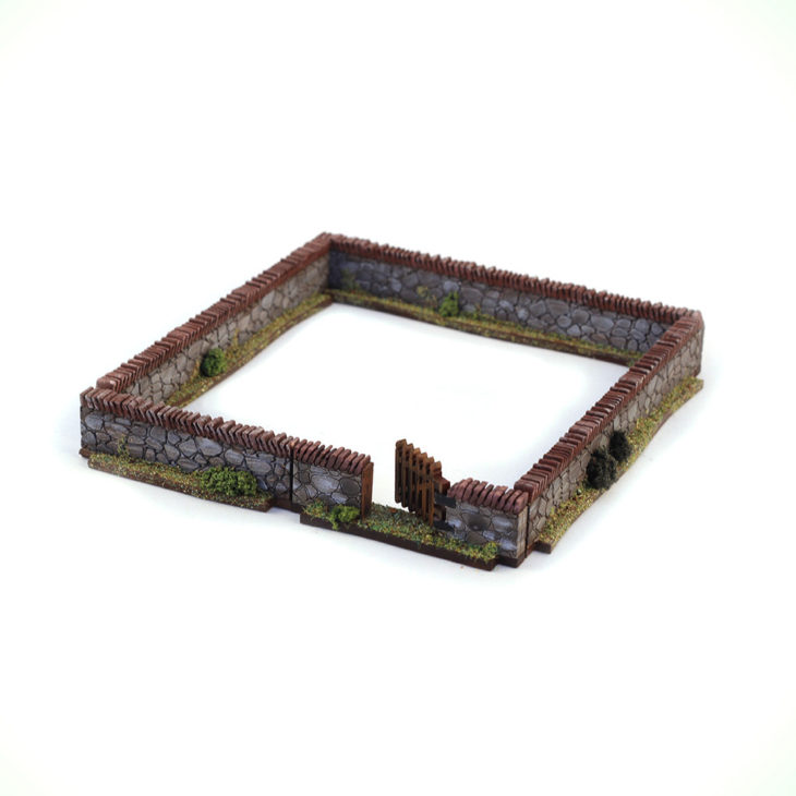 mdf stone walls for 28mm wargaming